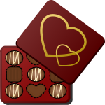 Square box of chocolates vector illustration
