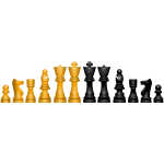 Vector image of chess figures ordered by height
