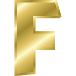 Effect Letters alphabet gold