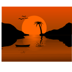 Sunset Waterscene