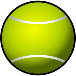 Tennis ball clip art vector image