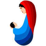 Virgin Mary and the infant Jesus