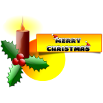 Merry Christmas vector message