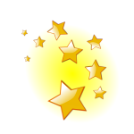 Decorative stars vector