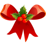 Vector image of Christmas ribbon