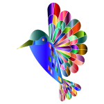 Chromatic Abstract Hummingbird