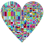 Chromatic Checkered Crystalline Traditional Heart