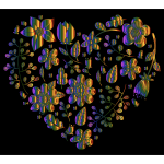 Chromatic Floral Heart