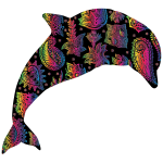 Chromatic Floral Pattern Dolphin 4