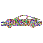 Car silhouette colorful pattern