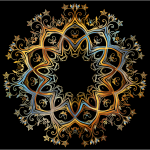 Chromatic Gold Flourish Ornament