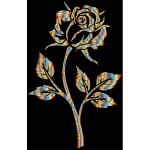 Chromatic Gold Rose Silhouette