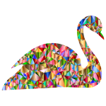Chromatic Low Poly Swan