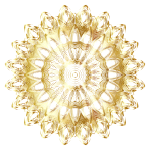 Chromatic Mandala Line Art Gold No Background
