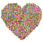 Chromatic Mosaic Heart