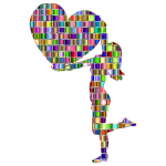 Chromatic Mosaic Woman With Big Heart