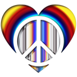 Chromatic Peace Heart