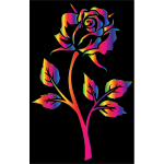 Chromatic Rose Silhouette 4