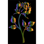 Chromatic Rose Silhouette Variation 2