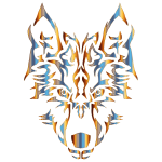 Chromatic Symmetric Tribal Wolf 2 No Background