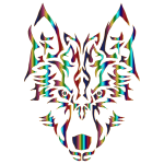 Chromatic Symmetric Tribal Wolf 3 No Background