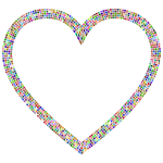 Chromatic Tiles Heart