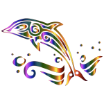 Chromatic Tribal Dolphin 2 No Background