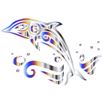 Chromatic Tribal Dolphin 4 No Background