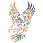 Chromatic Effect Tribal Eagle Silhouette