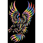 ribal Eagle Silhouette Chromatic Effect