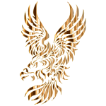 Heraldic Eagle Silhouette No Background