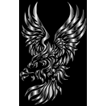 Tribal Design Eagle Silhouette