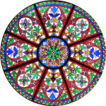 Circular Church Stained Glass Window