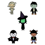 Classic Halloween monsters image