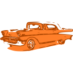 Orange classic car vector clip art