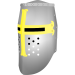Crusader great helmet vector illustration
