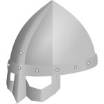 Viking spectacle helmet vector illustration