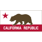 Clipart California Banner A Solid Thin Border