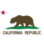 Clipart Flag of California Star Bear Plot Title Solid
