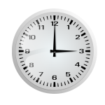 Clock without frame vector drawing