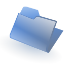 Blue closed folder vector image