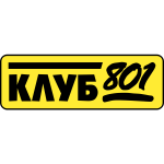 Klub 801 in cyrillic vector image