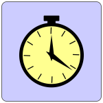 Analog alarm clock vector icon