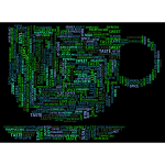 Coffee Cup Word Cloud Variation 2