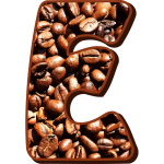 Coffee beans typography E