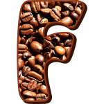 Coffee beans typography F