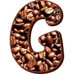 Coffee beans typography G