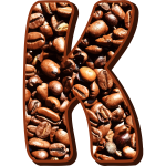 Coffee beans typography K