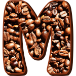 M with coffee beans