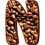 Coffee beans typography N